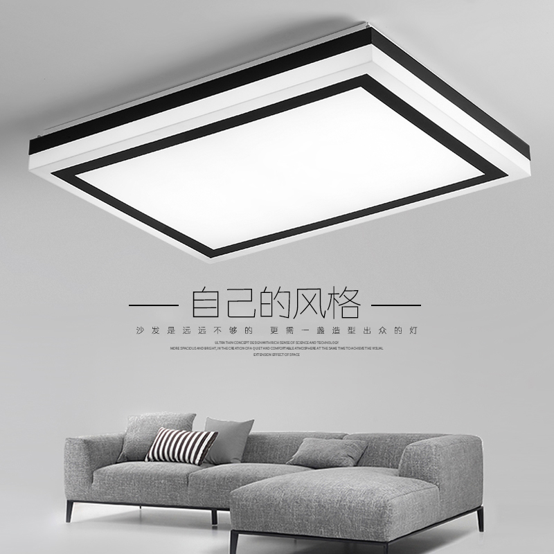 Modern led ceiling lights living acrylic design kitchen lamp for bedroom luces del techo wireless ceiling light fixture lamp noosion modern led ceiling lamp for bedroom room black and white color with crystal plafon techo iluminacion lustre de plafond