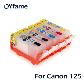 OYfame 5pcs PGI825 CLI826 Refillable Ink cartridges with ARC chips for Canon MG8180 6180 5280 IP4880 4980 IX6580 MX888 Printer image