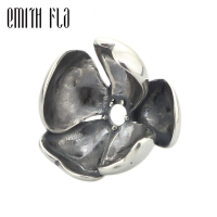 Emith Fla 925 Sterling Silver Shadow Petal Charm Beads DIY Fit For European Brand Troll Bracelet