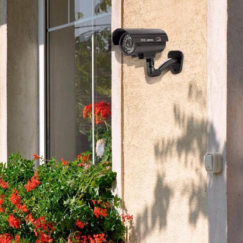 Security TL-2600 Waterproof Outdoor Indoor Fake Camera Security Dummy CCTV Surveillance Camera Night CAM LED Light Color