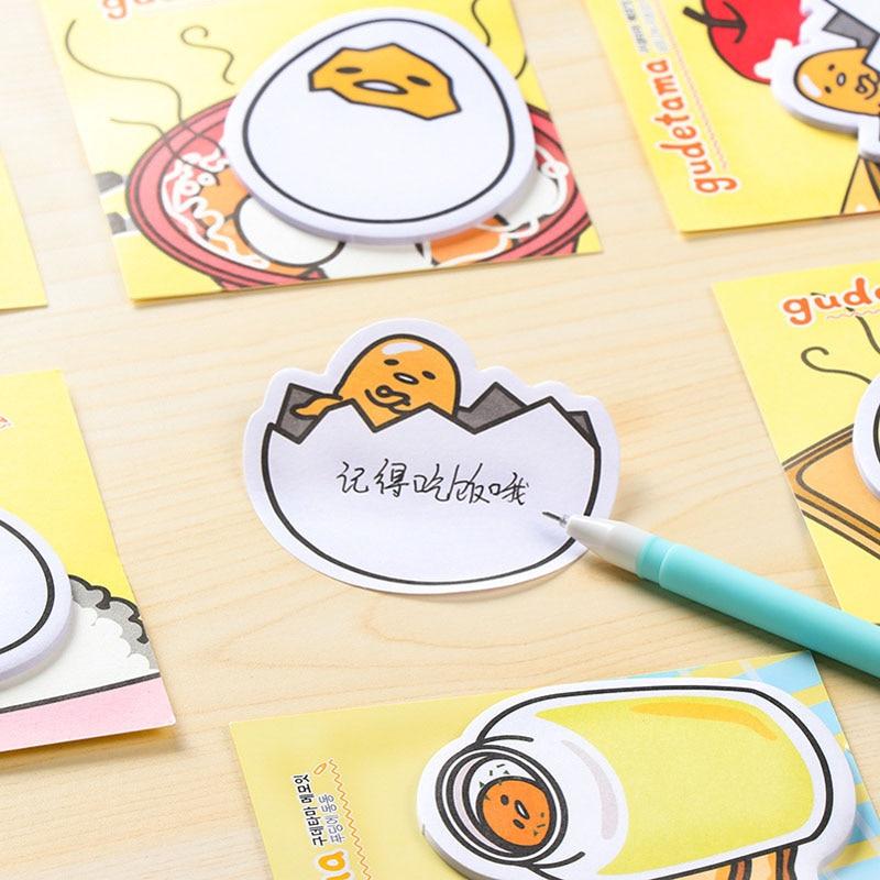 Onvermoeibaar 1 Stks/partij Nieuwe Collectie Gudetama Lui Ei Mini Memo Pad Sticky Notes Escolar Papelaria School Supply Bookmark Post Label Blt25 We Nemen Klanten Als Onze Goden