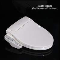 Smart Toilet Seat Washlet Electric Intelligent Bidet Cover Long Size English And Russian And Braille
