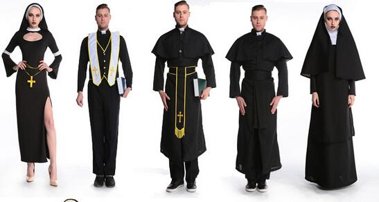 High quality Party Clothing Masquerade Halloween Drama Clergyman Priest Costume Fancy Dress Adult Man Cosplay Colthes  sc 1 st  AliExpress.com & Free shippingAdult Pastor Priest Monk Robe Costume Suit Godfather ...