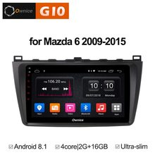 9 inch Android 8.1 Quad 4Core 2GB RAM+16GB ROM Car DVD Player For Mazda 6 Mazd6 2009-2015 GPS Navi Radio Stereo BT 4G WIFI TPMS(China)