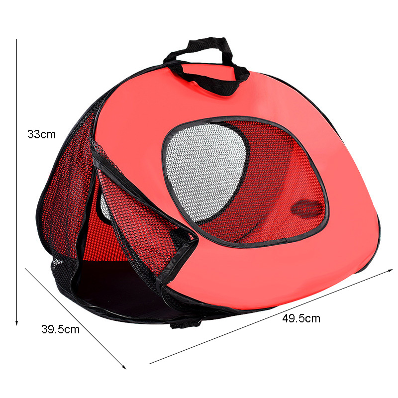 Pet Cat Carrier Bag Cage Portable Collapsible Multi-functional Tent Shape Design Patrern Folding Easily for Dog Cat 2