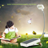 Solar Led Eye Protect Learning Bedroom Bedside Student Reading Desk Folding Clip Type Charging Small Lamp