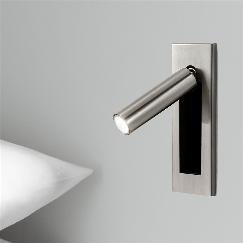 ZEROUNO LED Wall Light Sconces 110v 220v Universal LED Dock Switch Under Head Headboard Light Home Hotel Decor Night Lighting