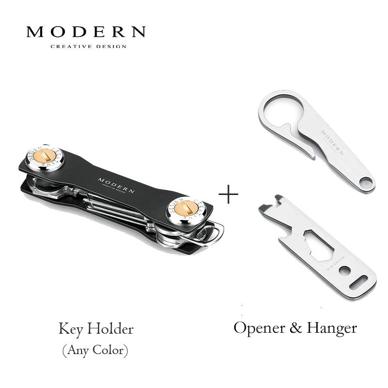 Home Aluminum Key Holder Organizer DIY Keyring Clip Folder Keychain Pocket Tool