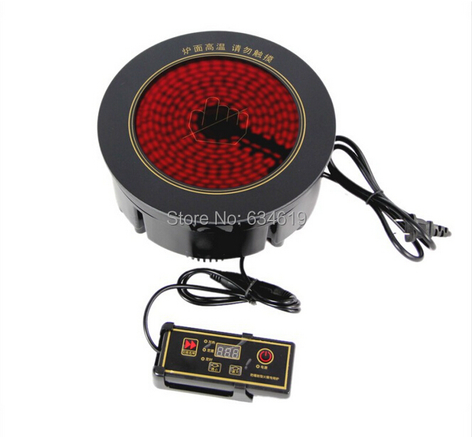 196 mm round small hot pot infrared stove embedded custom made small tea stove bult in cooking boiling and frying stove