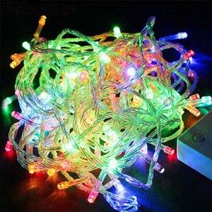 SICCSAEE 10 м 100 светодиодная гирлянда, Рождественская елка, Сказочная световая цепочка, водонепроницаемая, для дома, сада, вечеринки, уличного праздника, украшения