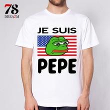 Pepe t-shirt masculina anime 2017 nova moda t shirt homens clothing impresso t-shirt top masculino qualidade tops tees