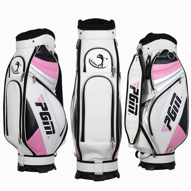 New Arrival Pgm Standard Golf Bag Waterproof Women Club Set Pu Bags Practice