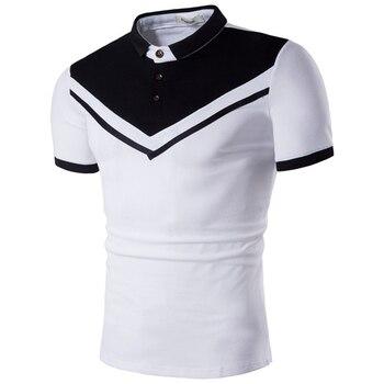 a47a189611dad16 ZOGAA 2019 горячая Распродажа Для мужчин короткий рукав Футболка-поло  ребята хлопковая Лоскутная мужская рубашка-поло для бизнес на каждый день.