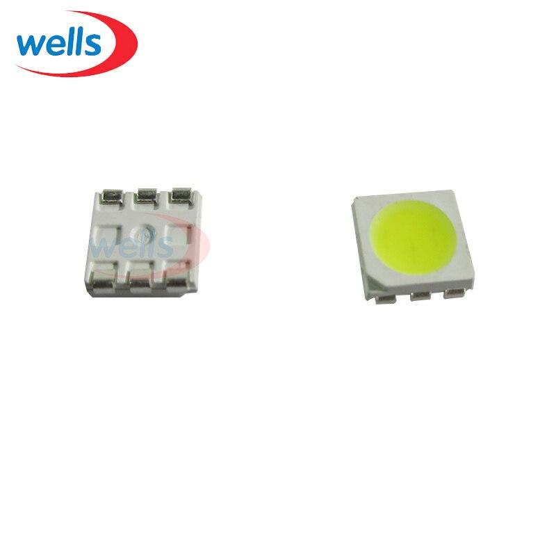 1000 Pcs Plcc-6 5050 Smd 3-chips White 6000-6500k 10000mcd Led Bulb Strip Light Evident Effect