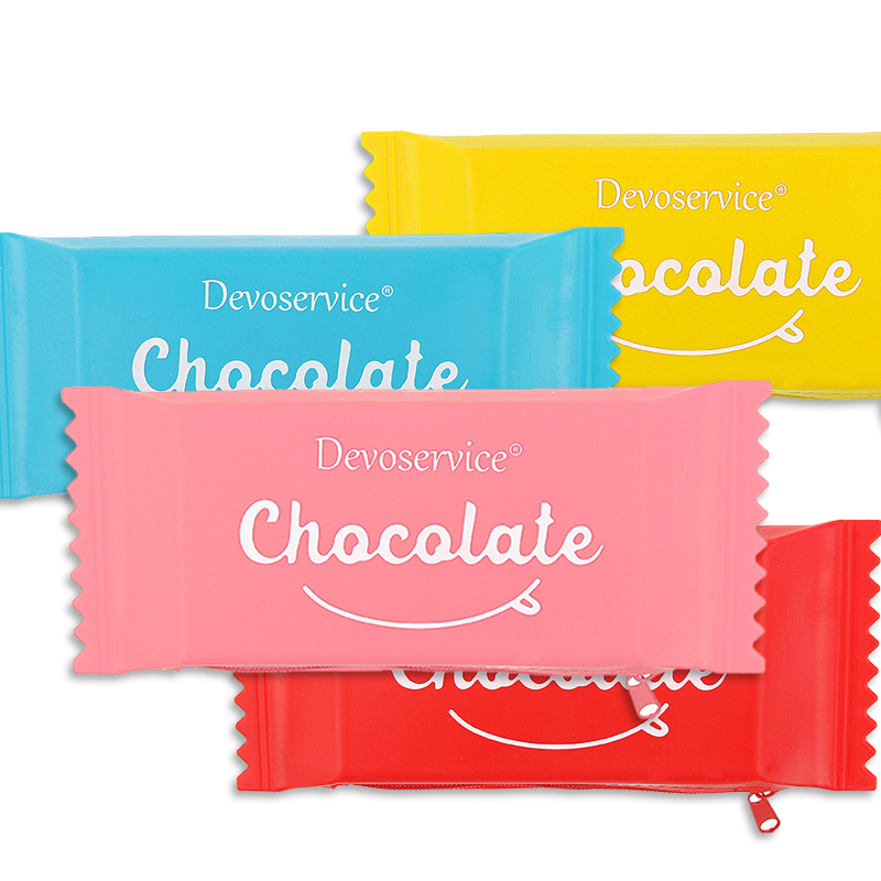 Waterproof Candy Bag Kawaii Cute Soft Silicone Rubber Pencil Student Pen Case Pouch Box Office School Supplies