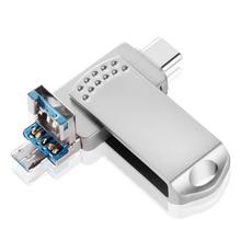 EAGET OTG USB флэш-накопитель 32 ГБ/64 Гб/128 ГБ Флешка USB 3,0 металлическая ручка привод 64 флэш в виде ключа USB флэш-накопитель для телефона Android