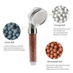 Baño Agua terapia ducha filtro de agua repuesto piedras de salud beads para cabeza de ducha negativo-ion