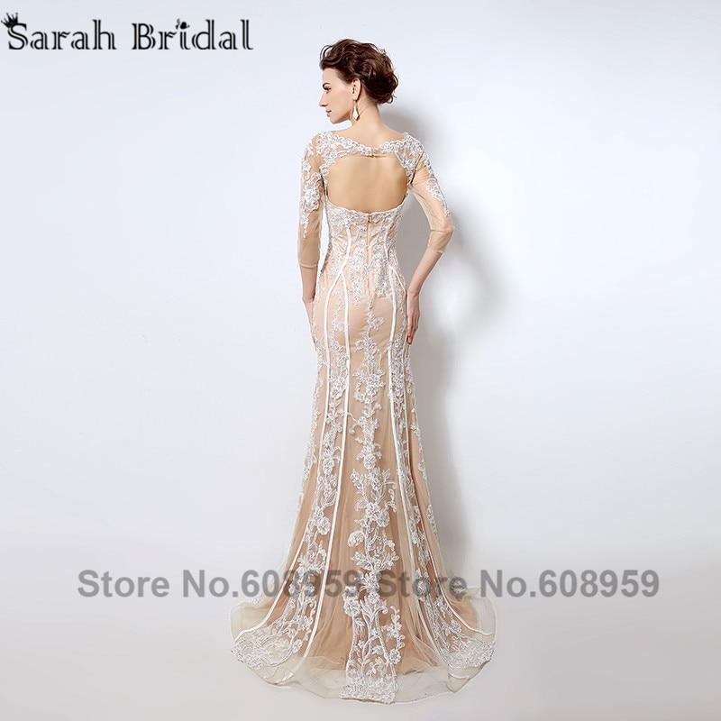 Naken Cut Cut Mermaid Aftonklänningar Ny Fashion Crystal Lace Tre - Särskilda tillfällen klänningar - Foto 3