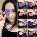 1Pc Portable Rose Flower Travel Case Eye Care Kit Contact Lens Holder Box