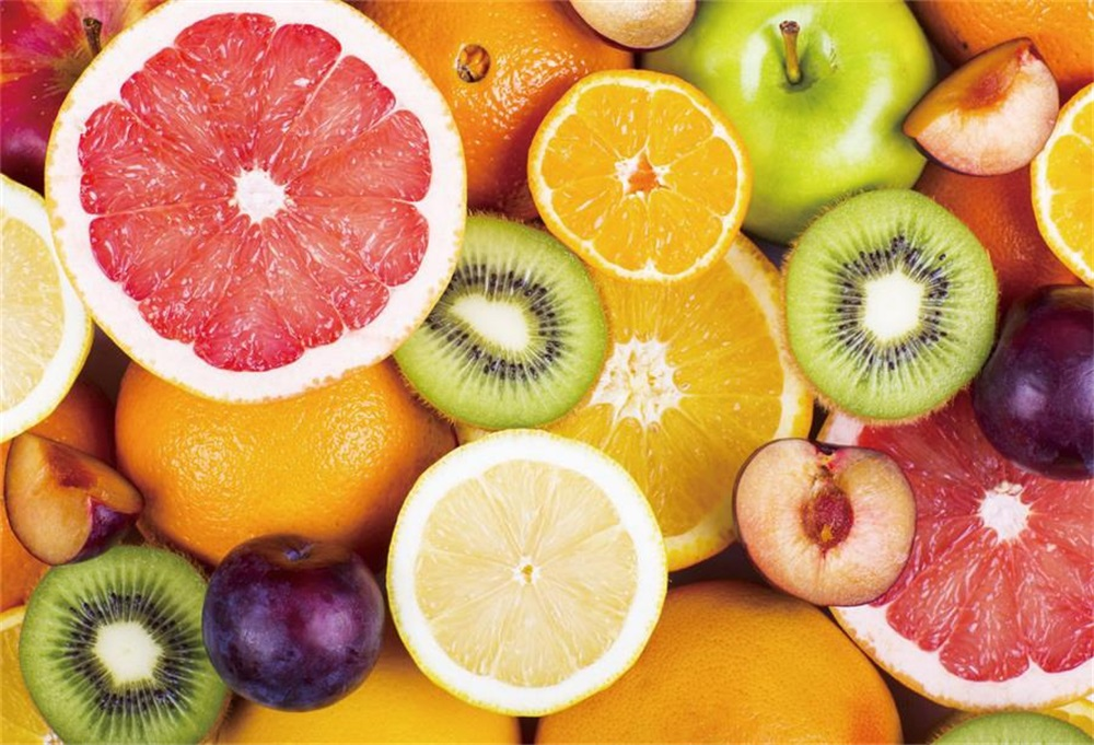 Laeacco Orange Cut Fruits Pattern Baby Children Photographic Backgrounds Customized Photography Backdrops For Photo Studio