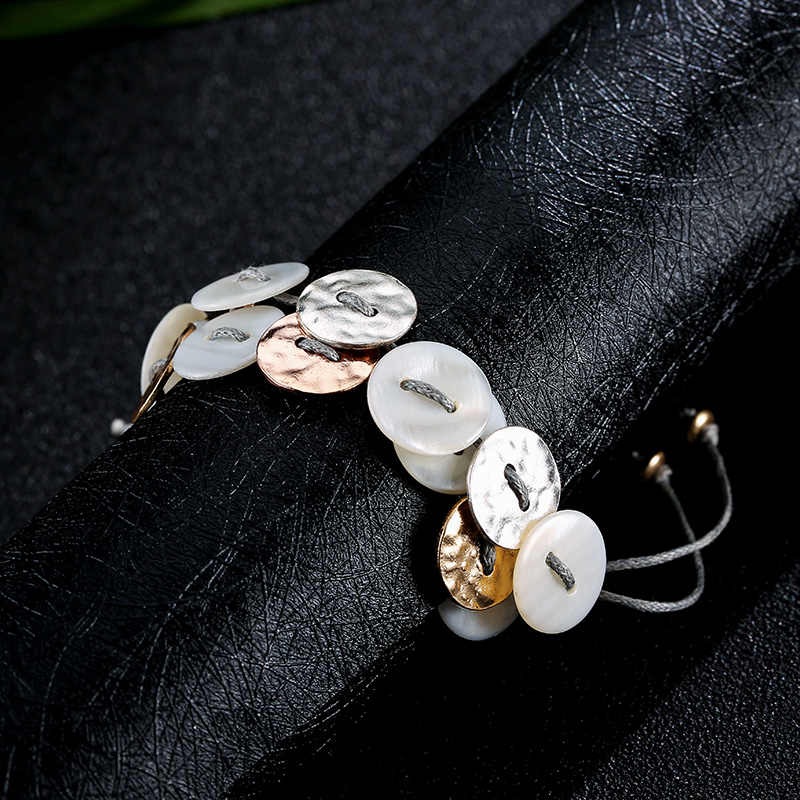 Ensoul alloy bracelet with round bracelet bracelet ladies fashion jewelry pulseira female bracelet