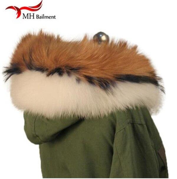 Шарф из натурального меха, пальто с меховым воротником, Женское зимнее пальто, меховые шарфы, роскошный мех енота, настоящий зимний теплый шейный платок - Цвет: J