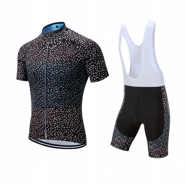 b5722601d 2018 Black Galaxy White Dot cycling jersey 19D pad bibs shorts set Mtb mens Bicycle  Clothing Ropa Maillot Ciclismo bike wear