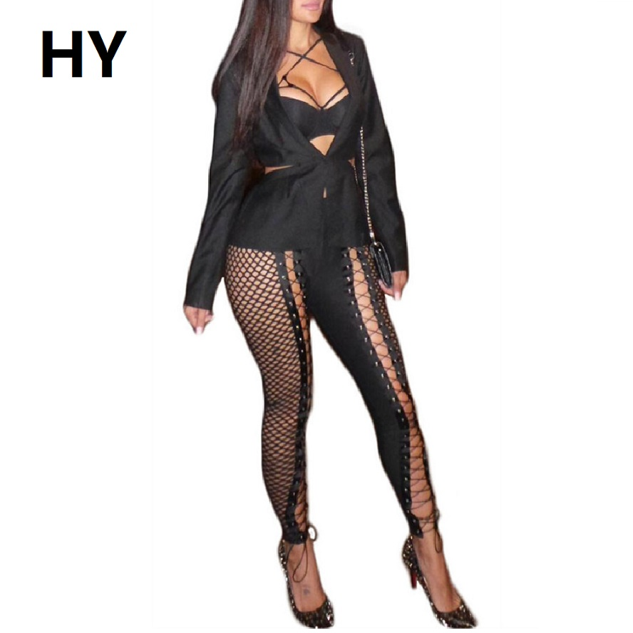 Linen Pants Leggings Fitness Wide Trousers Women 2017 Bodycon Pants Sexy Club Hollow Out Women Full Length Black Elastic
