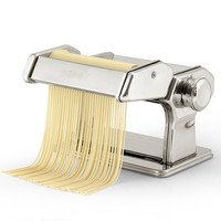 LJ1 Portable Manually Noodle Maker 2 Balde 7 Gear Pasta Making Mechine Cutter Kitchen Tools Stainless Steel 2 Colors