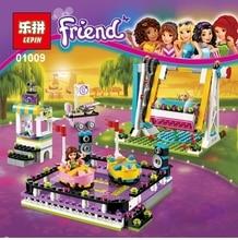 LEPIN 01009 friends amusement park Bumper cars 424pcs Model Building blocks Bricks Compatible Toy Christmas Gift legoes 41133