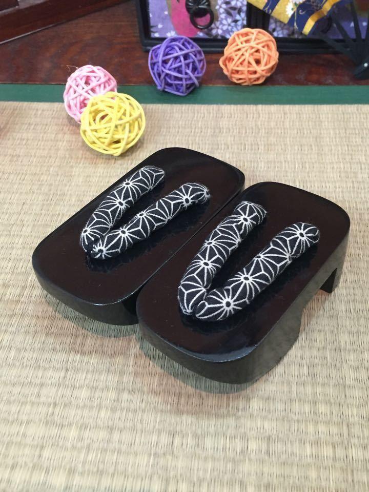 [wamami] Dark black Wood Kimono geta Timber Shoes Sandals 1/3 SD DZ BJD Dollfie free shipping sw luts as dz bjd sd boots bjd shoes
