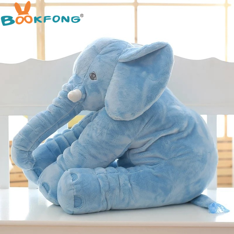 BOOKFONG 1PC 40/60cm Infant Soft Appease Elephant Playmate Calm Doll Baby Appease Toys Elephant Pillow Plush Toys Stuffed Doll 7