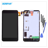 AAA Black For Nokia Lumia 630 635 LCD Display Touch Screen Digitizer Assembly Replacement Parts Bezel