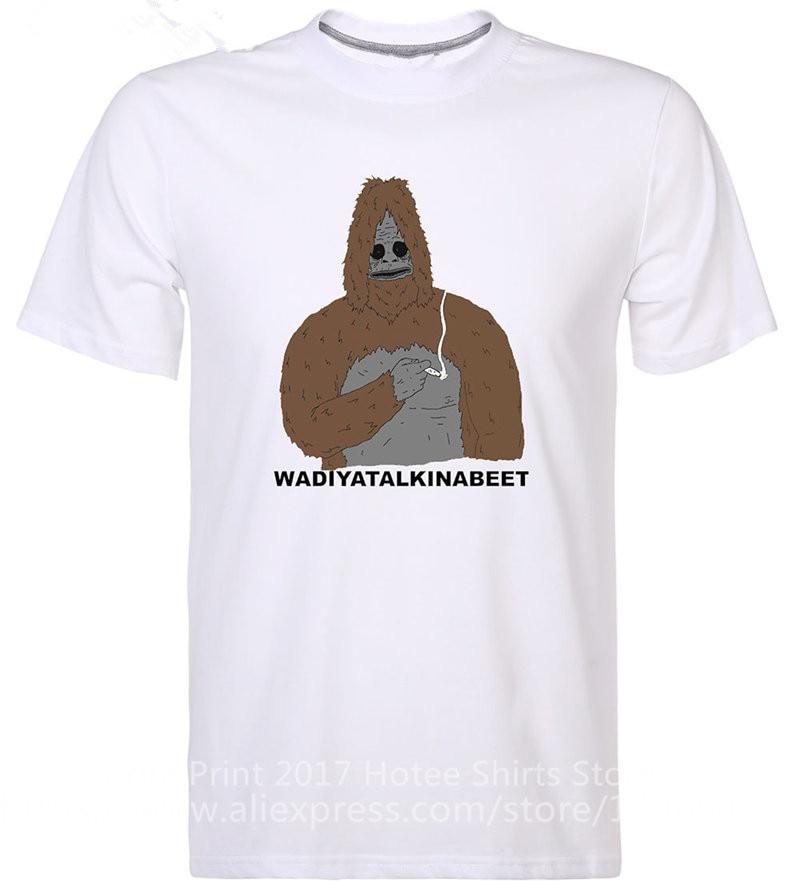 T Shirt Shop Short Sleeve Men Wadiyatalkinabeet O-Neck Tall T Shirt