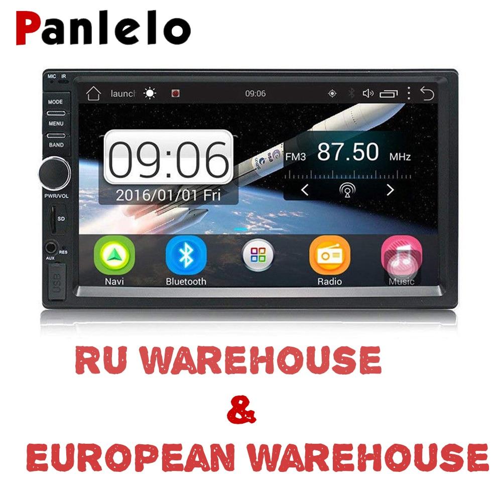 Panlelo 2 Din Android Авто Радио 7 дюймов стерео аудио 1080 P 1 г 16 Bluetooth Wi Fi FM AM видео плеер gps навигации