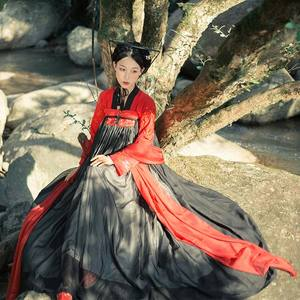 Image 4 - Hanfu Chinese Dance Costume Traditional Stage Outfit For Singers Women Ancient Dress Folk Festival Performance Clothing DC1133