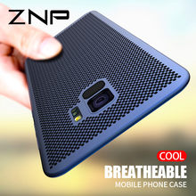 ZNP Ultra Slim Grid Heat Dissipate Phone Case For Samsung Galaxy S9 S8 Plus Note 9 8 Back Cover Case For Samsung S7 S6 Edge Case(China)