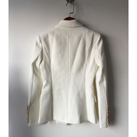 HIGH QUALITY New Fashion 2018 Star Style Designer Blazer Women's Gold Buttons Double Breasted Blazer size S-XXL 3