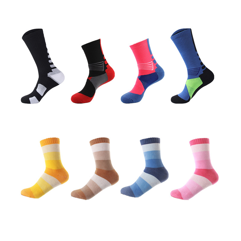 1 Pair Professional Long Thicken Skating Socks Sports Cotton High Protection Breathable Anti Abrasion For Children Adult Men