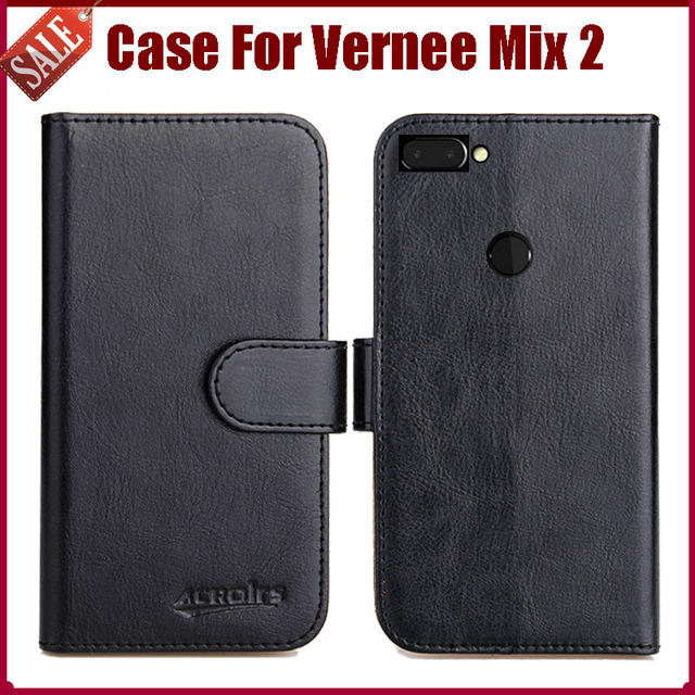 Hot Sale! Vernee Mix 2 Case New Arrival 6 Colors High Quality Flip Leather Protective Cover Case For Vernee Mix 2 Case