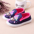 Spring Children Girls Shoes Fashion Cartoon Kids Baby Canvas Shoes Flower Low Foot Wrapping Girls Single Casual Sports Shoes