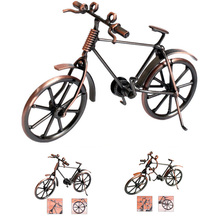 Home Decoration Retro Metal Bike Model Craft Bicycle Figurine For Friend Best Gifts Children Birthday Toy