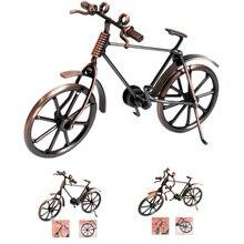 Home Decoration Retro Metal Bike Model Craft Bicycle Figurine For Friend Best Gifts Children Birthday Toy Present Desktop Crafts