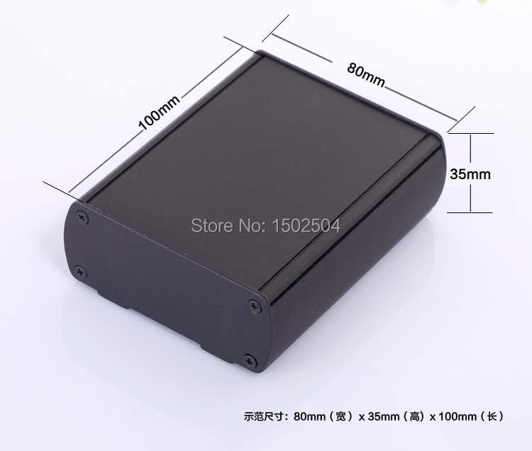 Aluminum enclosure electrical PCB project box electornics case 80x35x100mm DIY NEW wholesale e cap aluminum 16v 22 2200uf electrolytic capacitors pack for diy project white 9 x 10 pcs