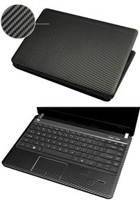 "KH Laptop Carbon fiber Crocodile Snake Leather Sticker Skin Cover Guard Protector for DELL Studio 1737 17.3""(China)"