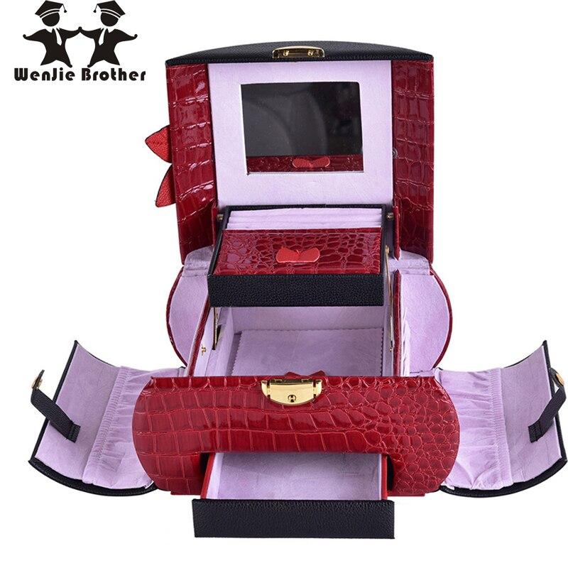 Wenjie frère beau 6 couleur à choisir maquillage Boîte Maquillage Cas Beauté Cas Cosmétique Sac Multi Niveaux Verrouillable boîte à bijoux