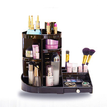 Desktop Makeup Organizer bag Creative DIY 360 Degree Rotation Transparent Acrylic Cosmetics Box Professional Case