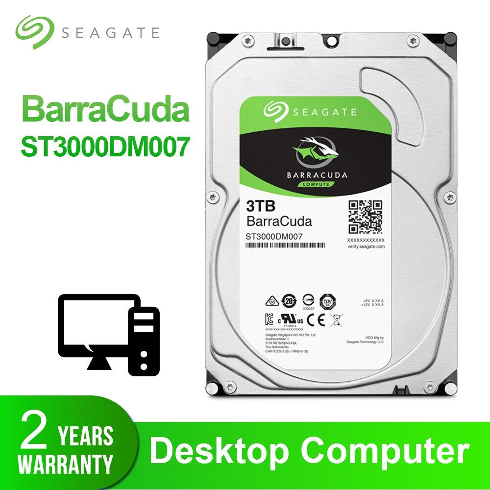 Seagate 3TB Desktop HDD Internal Hard Disk Drive Original 3 5 3 TB 5400RPM SATA 6Gb
