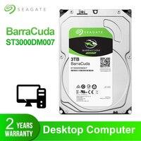 Seagate 3 ТБ настольный жесткий диск внутренний жесткий диск Оригинал 3,5 ''3 ТБ 5400 RPM SATA 6 ГБ/сек. жесткий диск для компьютера ST3000DM007