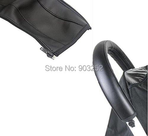 2 цвета искусственная кожа черный и коричневый детская коляска подлокотник ручка рукав крышка универсальная ручка Пыленепроницаемый Чехол